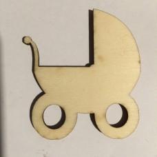 Carrozzina bebè in legno