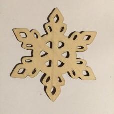 Fiocco di neve in legno