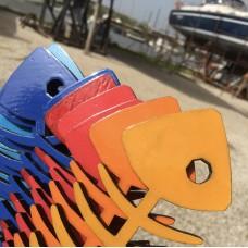Lisca di pesce in legno dipinta a mano