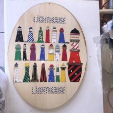Quadro ovale in legno Fari