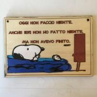 Quadretto Snoopy